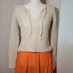 Abercrombie & Fitch beige color Sweater.